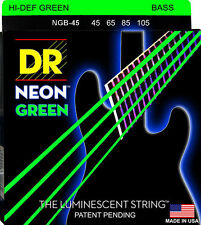 DR NGB-45 Neon Green Bass Guitar Strings gauges 45-105
