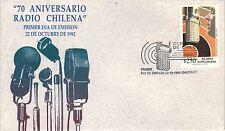 Chile 1992 FDC 70 aniversario Radio Chilena