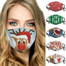 Lady-Muck3: Christmas Face Mask Washable Reusable Covering Mouth Masks Print