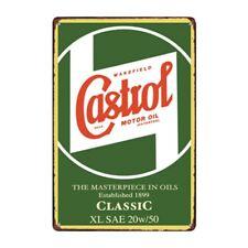 Metal Tin Sign castrol motor oil Bar Pub Home Vintage Retro Poster Cafe ART