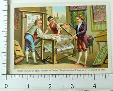 1870's-80's Lovely French Inventors Scenes Oberkampf Caus 5 Trade Card Set K116