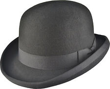HAND MADE BOWLER HAT 100%25 WOOL Felt Top Satin - MANY COLOURS
