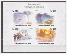 0142 Comores 2010 Climatre change hurricane S/S Mnh imperf