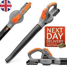 More details for cordless garden leaf blower 20v max. terratek battery and charger included