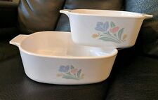 Lot of 2 Friendship Corning Ware Casserole Dishes 8 x 8 x 2.5 & 6.5 x 6.5 x 3