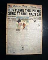 WARSAW POLAND Liberation by Soviets Russians in World War II 1945 WWII Newspaper