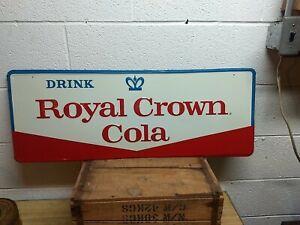 Vintage NOS Royal Crown Cola Metal Advertising Sign