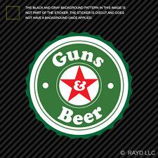 Guns & Beer Sticker Decal Self Adhesive Vinyl and 2a gun rights