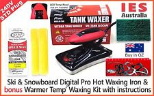 Ski & S'board Digital Hot Waxing Iron & Bonus Warmer Temp wax Kit, DIY & save $