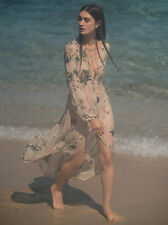 RARE Free People Sheer Maxi Duster Dress s/small Colors of the Wind Floral