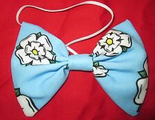 Yorkshire Rose Print Bow Tie County Fancy Dress Yorkshire Day Cricket