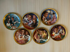 James Bond 007 Franklin Mint Porcelain Collector Plates Le Set of 6 Sean Connery