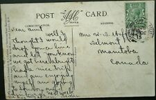 CANADA WWI 15 OCT 1915 POSTCARD FROM SHORNCLIFFE CAMP, FOLKESTONE TO MANITOBA