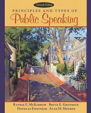 Principles and Types of Public Speaking (16th Edition) (MySpeechKit Series)