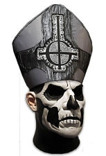 """""""Papa Emeritus"""" Deluxe Mask With Attached Hat Heavy Metal Band """"Ghost"""" Lic. Mask"""