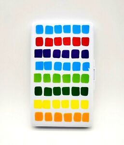 Rainbow Squares Boy Baby Wipes Travel Case Diapering Accessory NEW