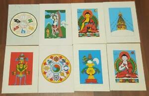 Handmade Spiritual Greeting Cards Spiritual Nepalese Buddhist Greeting Pkts of 4