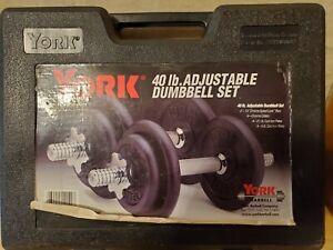 York 40 LB Dumbbell Set 140140