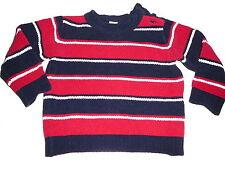 C & A toller Strick Pullover Gr. 80 rot-blau-weiß gestreift !!