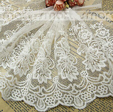 2 Yards White Cotton Crochet Net Lace Trim Flower Embroidery Ribbon Sewing 23cm
