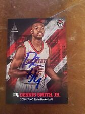 DENNIS SMITH JR autographed signed ROOKIE CARD 2017 NC STATE WOLFPACK