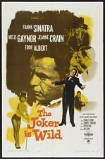 THE JOKER IS WILD Movie POSTER 27x40 B Frank Sinatra Mitzi Gaynor Jeanne Crain