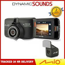 Mio Mivue 751 DUAL Car Dash Cam DVR With GPS & Speed + Rear Camera Video Record