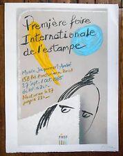 Lithographie originale - Blom - Première foire Internationale de l'estampe -1985