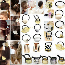 13 Styles Gothic Metal Hair Cuff Ponytail Clip Tie Holder Hair Band Elastic Wrap