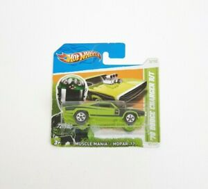 Hot Wheels 2012 Muscle Mania '70 Dodge Charger R/T Green Diecast Car - New