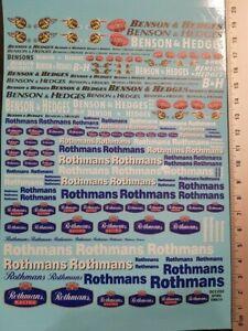 "DECALS "" BENSON / ROTHMANS "" TOUTES ECHELLES 19cm X 15cm - COLORADO DCD020 UV"