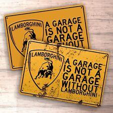 Racing Shocks Suspension Bmw Mercedes Lamborghini Ferrari Audi Metal Garage Sign