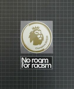 Premier League Gold Champions 2019-2020 Patch & No Room For Racism Liverpool