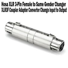 Hosa XLR 3-Pin Female to Same Gender Changer Coupler Adapter Converter XLR3F NEW