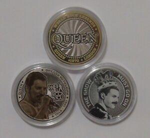 Set of 3 coins 25 rubles Freddie Mercury. Queen UNC