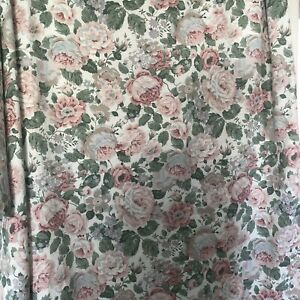 """Vintage Dorma Curtain Croscill Collection Pink Green Roses W64"""" L70"""" Floral"""