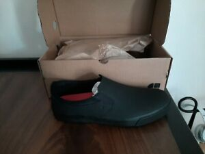 Shoes for Crews Unisex Slip On in Black Nubuck Leather - Water Resistant Size 9