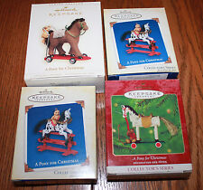 Lot of 4 A Pony for Christmas Collector's Hallmark Keepsake Ornaments Boxes