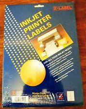 "Ink Jet Matte Clear Printer Address Labels 3000 per Box. ""Z-Label"" 33103"
