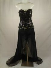Claudine ByAlyce Womens Prom/Pageant/Evening Dress Black Sz 4 Booty Shorts C/567