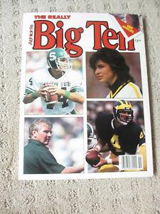 Athlon Sports 1985 Big Ten College Football Edition Jim Harbaugh Cover *