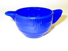 Akro Agate Child Tea Set Large Concentric Ring Royal Blue Creamer / 3 Available