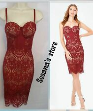 New  bebe CLARISSA LACE BUSTIER Dress SIZE S Very attractive and sexy $200