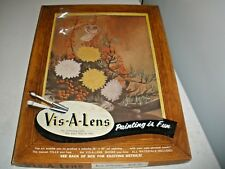 NEW Vintage 1958 Vis-a-Lens Paint By Overlay Set #BOF-70 BOAT OF FLOWERS