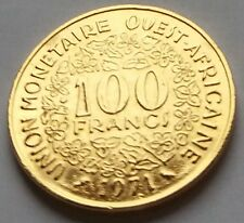 100 FRANCS 1971 UNION MONETAIRE OUEST AFRICAINE DORE OR FIN 24 CARATS