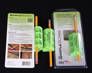 Scribing Tool (Simple Scribe,Level,pencil) 1 Pack, Woodworking,Flooring,Fitting