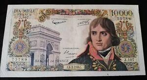 Billet Français 10000 Francs Bonaparte très rare et recherché photo réelles