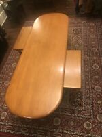 Conant Ball Mid Mod 3 Piece Coffee Table Hard Rock Maple Eames Era Surfboard Wow