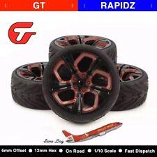 4pcs/Set 62.5mm Tires 1/10 RC Racing Tires Car on Road Wheel Rim for HSP HPI RC