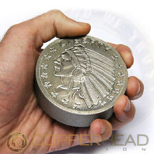 One Pound (16oz) Titanium Coin Incuse Indian .996 CP1 Bullion Round Bar 1 lb